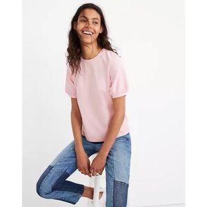 Madewell Bubble Gum Pink Puff Sleeve T-Shirt XS
